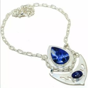 Gorgeous sterling silver and Sodalite Necklace